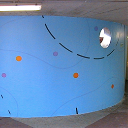 Architectural mural, City of Bristol College, 2001