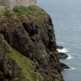 Castle - Dunnottar Castle (south cliff) down to the North Sea