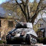 Monument - M4A1(76) Sherman Tank Statue in La-Roche-en-Ardenne, Belgium