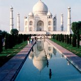 Monument - Taj Mahal - a white marble mausoleum, Agra, Uttar Pradesh, India