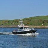 SCOTLAND - Pilot sails into Aberdeen Harbour