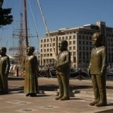 SOUTH AFRICA - Nobel Square, Cape Town, commemorating Albert Luthuli, Archbishop Emeritus Desmond Tutu, F.W. de Klerk, and Nelson Mandela