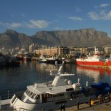 SOUTH AFRICA - Table Mountain backdrop to Cape Town Harbour