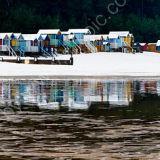 Winter beach huts