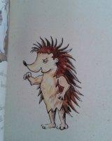'The Wrestling Hedgehog' by Yvonne Merriman.