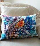 'Songbird' rectangular cushion 48 x 33 cm