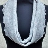 Snood 8 - Light grey speckle.