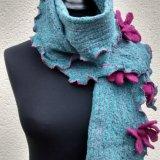 Scarves 2 - Dark turquoise & cerise