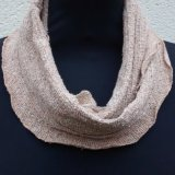 Snood 2 - Beige speckle, ribbed.