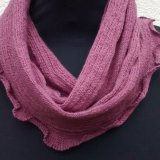 Snood 4 - Light Berry, ribbed.