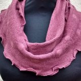 Snood 3 - Light Berry with self coloured dots.