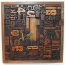 Square 'Tick Tock' Lexigraph Clock 34 x 34 cm £295