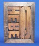Q Here lexigraph 11 x 16cm £50