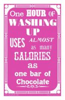Washing up & chocolate Tea Towel