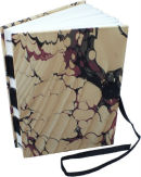 A5 Journal with marbled paper cover £23