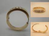 Hinged eternity ring