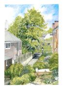 Keats Close in Hampstead Heath - from Daya's Window.