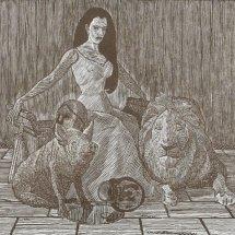 Circe wood engraving