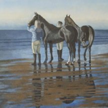 """'Sea Horses No 1' (oil on canvas, 30 x 20 """", sold)"""