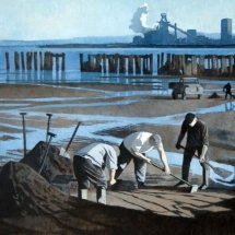 Sea coaling, Hartlepool (oil on linen, 24 x 18 inches, Durham University Collection)