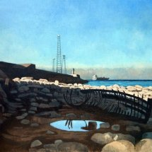 South Gare, oil on linen, 24 x 18 inches