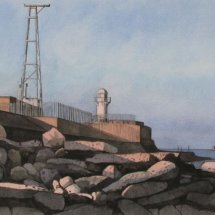 South Gare watercolour