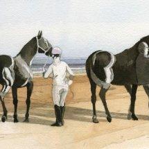 Study for Sea horses no 2, sold