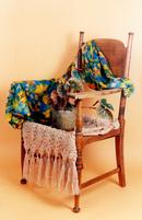 Antique chair & scarves