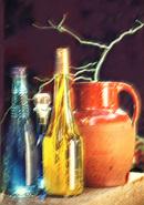 Pastel Effect Jug & Bottles