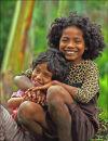 Two girls at Bena village