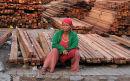 Sales woman at lumberyard