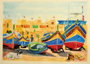 The Maltese Luzzu with unique colours.