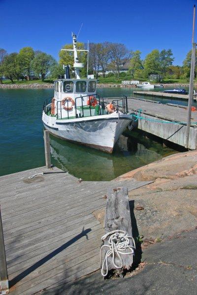 Boat at Jarso, Aland islands, Finland