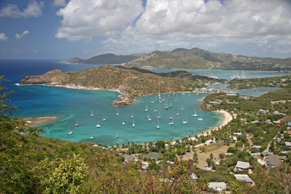 Antigua, English Harbour from Shirley Heights