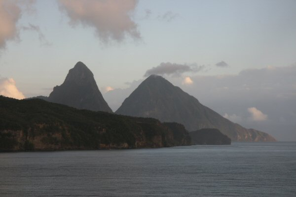 St Luica, The Pitons