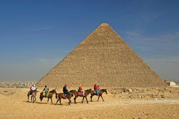 Horse riding at the Pyramids, Giza