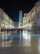 Dubrovnik, Placa Stradun at night