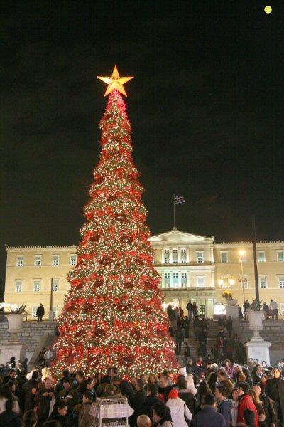 Athens - Sindagma Square at Christmas