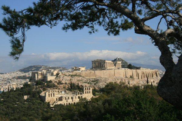 Athens - View of the Parthenon from Filopapou Hill