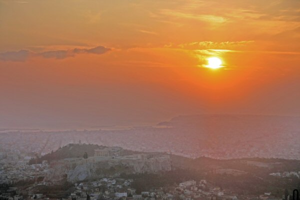 Athens - Sunset from Lycabettus Hill