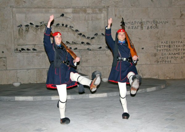 Athens - Guards at the Tomb of the Unknown Soldier