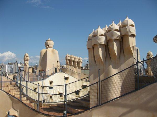 Roof of La Pedrera, Barcelona, Spain