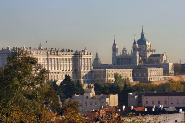 Royal Palace and Cathedral, Madrid, Spain