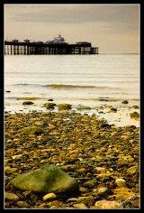 Llandudno pier form the shore.