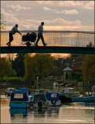 Eel Pie Island Bridge - sunset 1