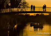 Eel Pie Island Bridge - sunset 2