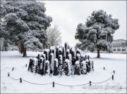 Snow-covered Sculpture at Kew