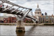 Millenium Bridge & St. Paul's Cathedral