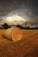 Hay Bales at Jodrell Bank Cheshire
