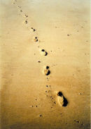 Footsteps in the Sand II - colour photograph